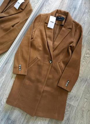 Новое пальто цвета кемел sinsay размер л