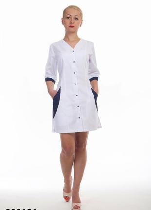 Халат белый, медицинский, батист, р. 42-56; женская медицинская одежда, 892181