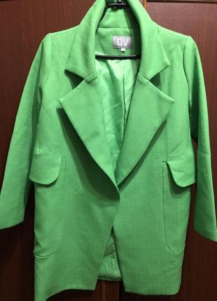 Пальто-пиджак удлиненный dv, возможен торг
