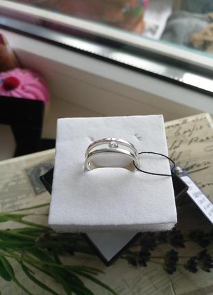 Стильное кольцо серебро 925 пробы,  размер 17.5