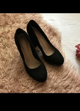 Туфлі штучна замша