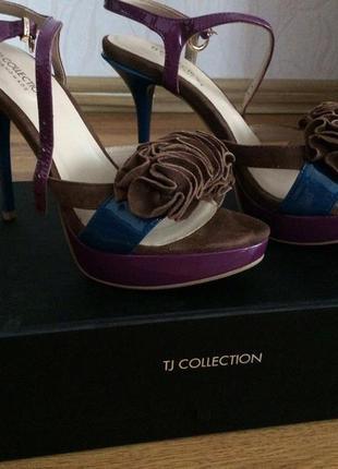 Босоножки tj collection, кожа, 38 р., идеальное состояние