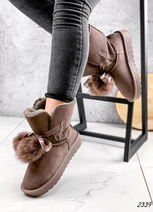 Новые женские зимние замшевые ботинки угги