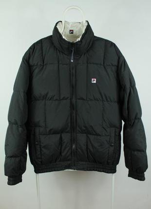 Оригинальный двухсторонний пуховик fila vintage down jacket