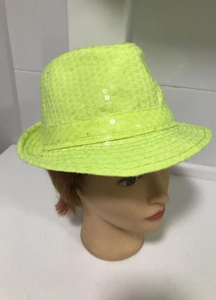 Шляпа диско в пайетках ретро