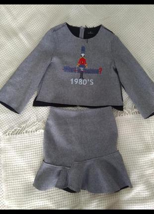 Костюм блуза юбка zara