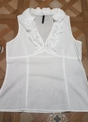 Naf naf біла блузка блуза белая белоснежная