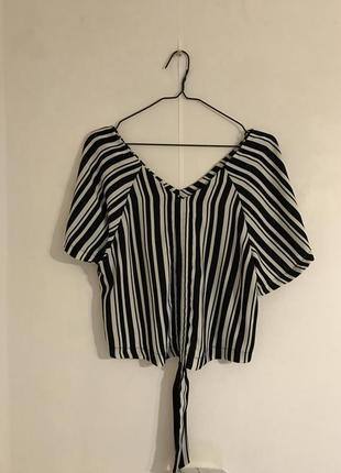 Черно-белая блуза calliope на завязках