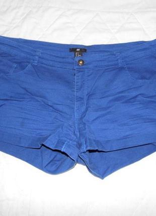 Шикарные шорты-коттон h&m eu 44 -синие