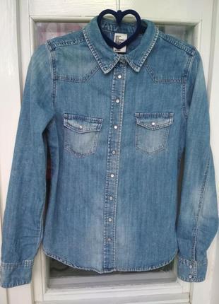 Рубашка джинсовая джинсова сорочка
