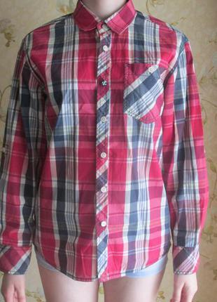 Рубашка красная в клетку бренда next