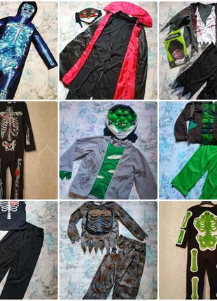 Карнавальный костюм на хеллоуин,зомби,скелет,вампир,демон,монстр