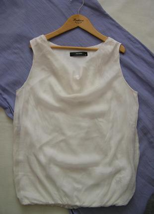 Лёгкий шёлковый блузон/топ на подкладке  34/36 размер евро xs/s hallhuber