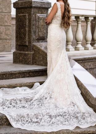 Свадебное платье milla nova,платье lorenzo rossi, вечернее платье рыбка,crystal