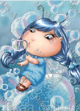 """Вышивка бисером""""фея мыльных пузырей """""""