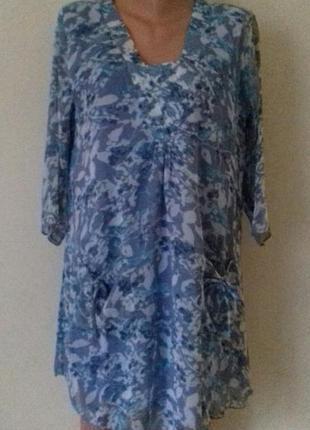 Новое шифоновое платье-туника с принтом