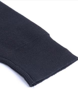 Черный оверсайз большой свитер с вышивкой рисунком скелет череп готический4 фото
