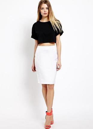 Белая классическая юбка карандаш madeleine, xl-xxl,52-54, eur 44-46, uk 16-18.