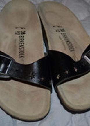Новые шлёпанцы birkenstock 38-24.5 германия кожа