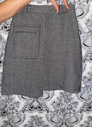Стильная твидовая юбка