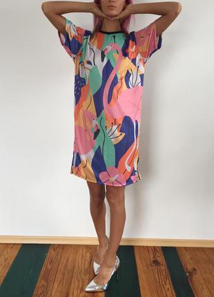 Платье туника птицы