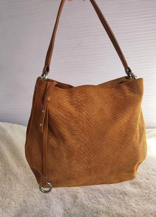 Кожаная замшевая сумка burkely оригинал