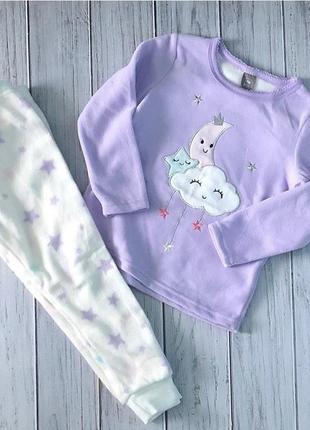 Флисовая пижама костюмчик на девочку