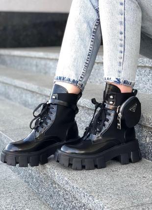 Prada monopolith ⭕ женские ботинки прада 🔻 купить наложный платеж