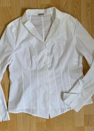 Эксклющивная белоснежная блузка annette gortz,40