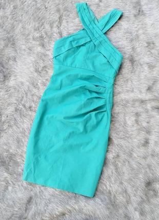 Платье футляр чехол с перехлестом на лифе warehouse