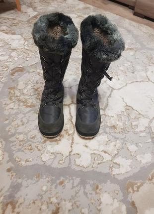 Теплющие зимние сапоги vibram olang р.38 на меху