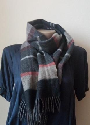 Теплый кашемировый шарф warren & parker клетчатый шарф премиум