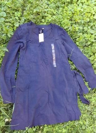 Платье вязанное женская туника теплая
