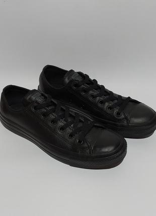 Converse оригинал  шикарные кожаные конверсы кеды кроссовки размер 38 39