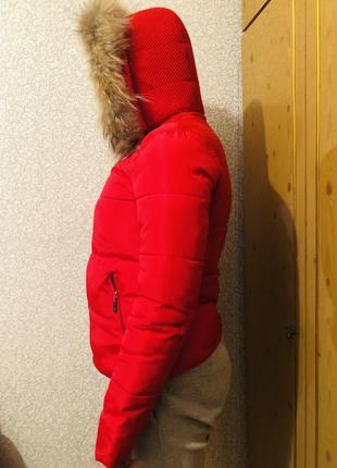 Зимова курточка червона yigu