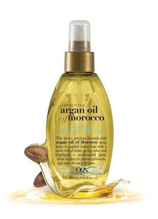 Профессиональный спрей для восстановления волос argan oil of morocco ogx usa