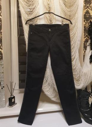 Брюки-джинсы bonobo jeans! вставки кожи и железная цель