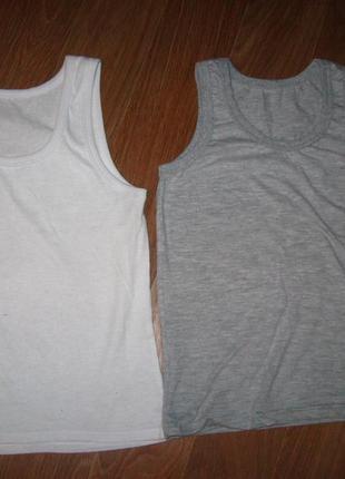 Майка белая и сера 116-122 цена за 2