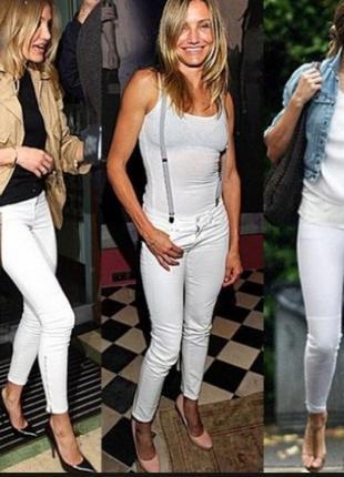Белые джинсы скинни blue spice