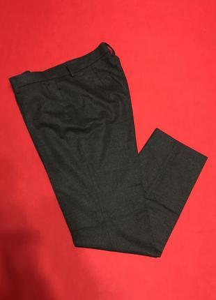Брендовые брюки прямого кроя,шерсть