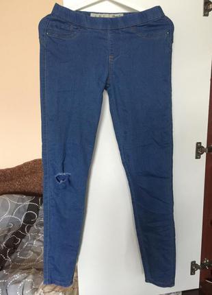 Рваные джеггинсы с высокой посадкой узкие джинсы размер s