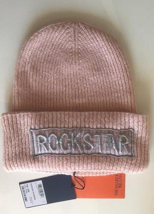 Trussardi шапка rockstar,оригинал,в составе шерсть