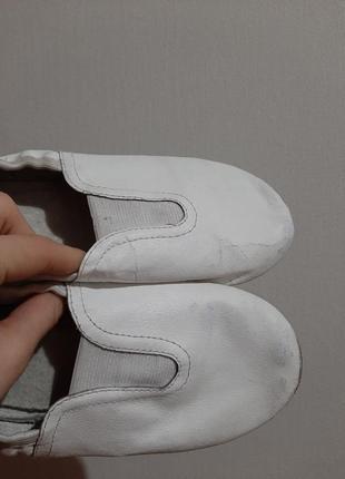 Белый балетки/чешки для танцев, гимнастики3 фото