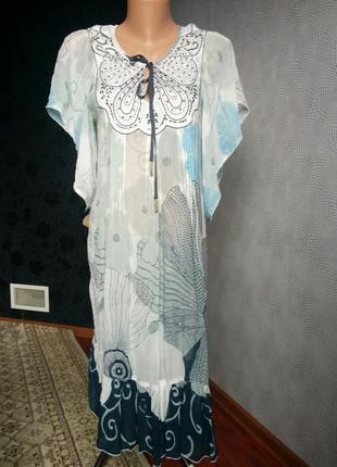 Пляжне плаття сарафан парео вiскозне noa