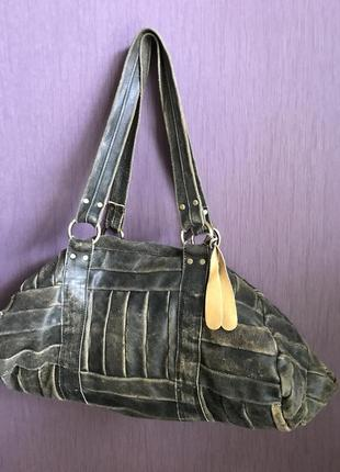 Cумка leather topshop vintage