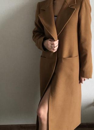 Пальто демисезон , коричневое ,оверсайз
