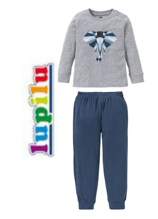 Акция. хлопковая пижама, домашний костюм мальчику lupilu pure collection