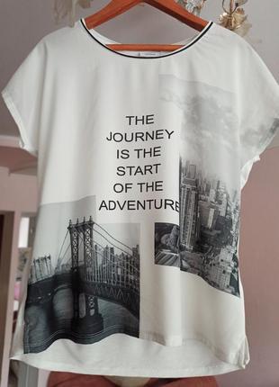 """Шикарная блуза с принтом """"нью-йорк"""""""
