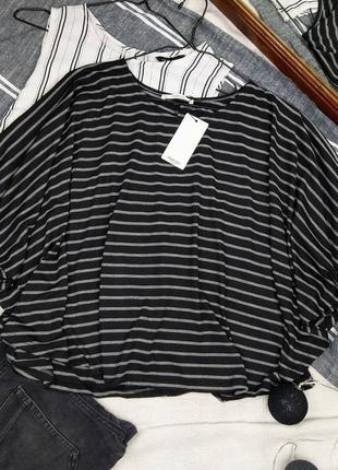 Новая блуза кофточка свободного кроя в полоску mango