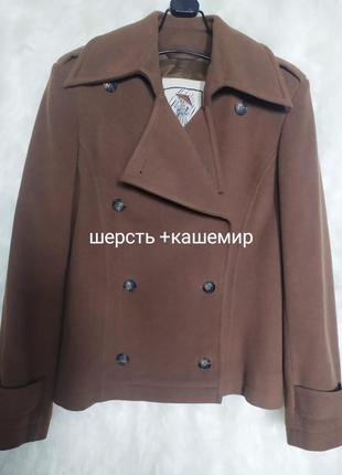 Кашемировая куртка-пальто (шерсть+кашемир) канадского бренда four seasons
